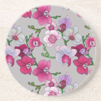 Pink Orchids In Bloom Coasters
