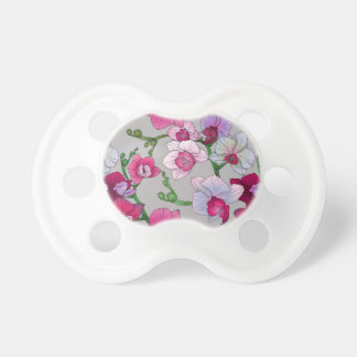 Pink Orchids In Bloom Pacifier