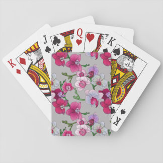 Pink Orchids In Bloom Playing Cards