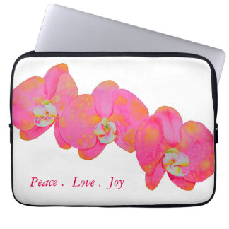 Pink Orchids Laptop Computer Sleeve