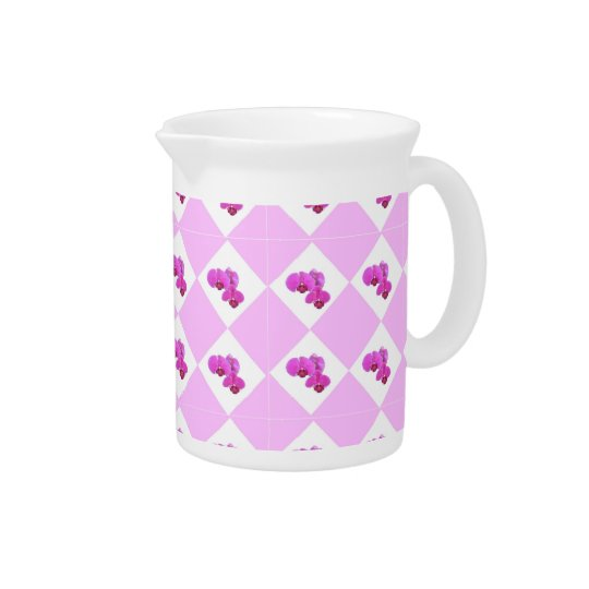 Pink Orchids Pitcher