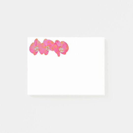 Pink Orchids Post-it® Notes