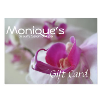 Pink Orchids Salon Spa gift certificate Business Card Template