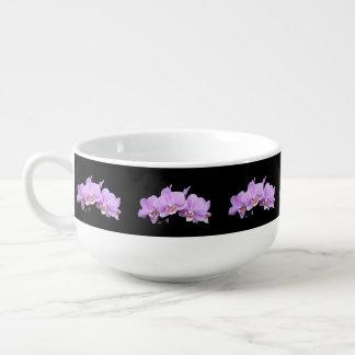 Pink Orchids Soup Mug