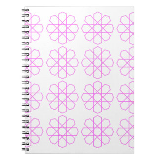 PINK ORNAMENTS Fashion pattern Notebooks