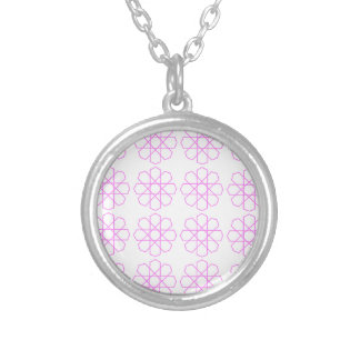 PINK ORNAMENTS Fashion pattern Silver Plated Necklace