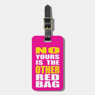 Pink Other Red Bag Luggage Tag