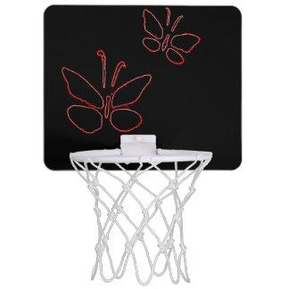 pink outline butterflies black Thunder_Cove Mini Basketball Backboard