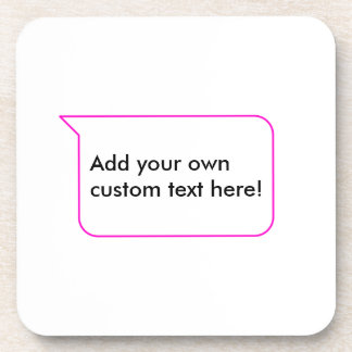 Pink Outline Chat Custom Message Bubble Template Coasters