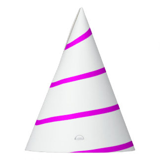 Pink Outlined White Unicorn Horn Party Hat