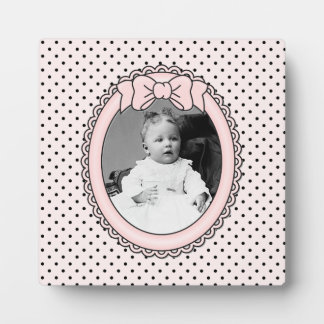 Pink Oval Frame with Bow - Customize with Your Pic