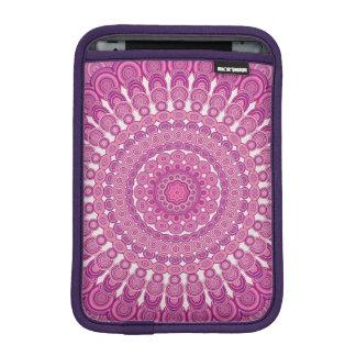 Pink oval mandala iPad mini sleeve