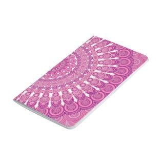Pink oval mandala journal