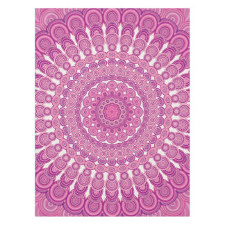Pink oval mandala tablecloth