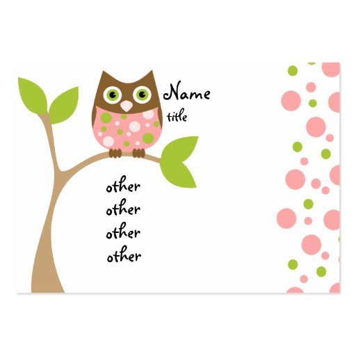 Owl Baby Shower Card Templates