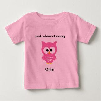 Pink Owl Baby T-Shirt