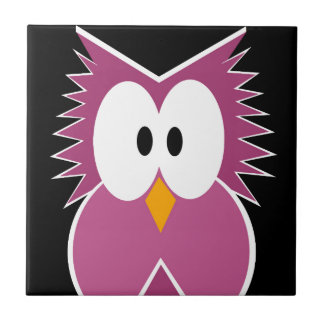 Pink Owl Ceramic Tiles