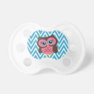 Pink Owl Custom Monogram Baby Pacifier