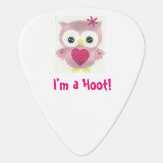 Pink Owl I'm a Hoot! Guitar Pick
