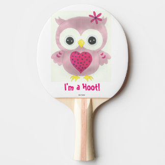 Pink Owl I'm a Hoot! Ping Pong Paddle