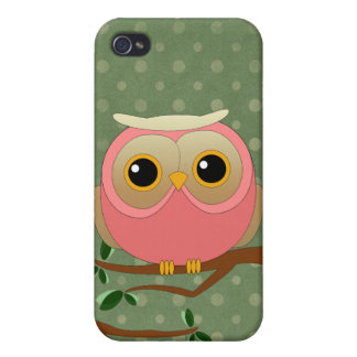 Pink Owl iPhone 4/4S Cases