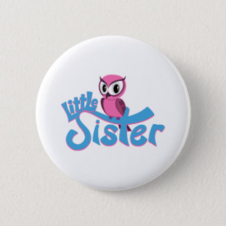 Pink Owl Little Sister 2 Inch Round Button