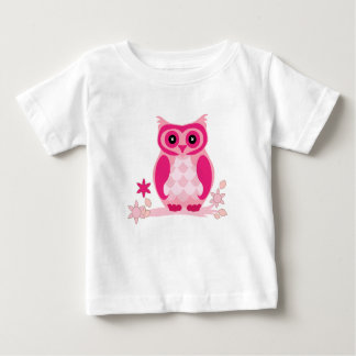 Pink Owl So Smart - Baby Fine Jersey T-Shirt