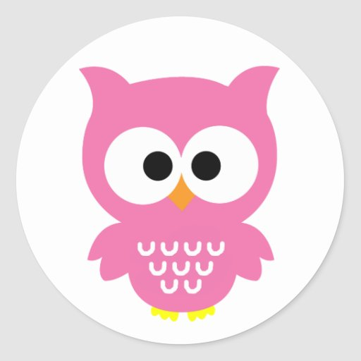 Pink owl stickers!
