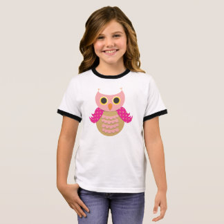 Pink Own Girl's Ringer T-Shirt