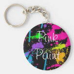 Pink Paint Keychain