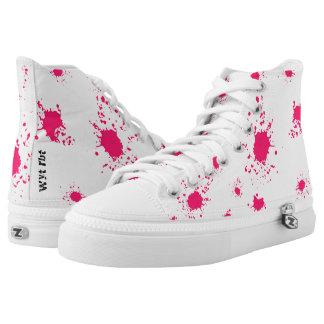 Pink paint splash Urban Hype High Tops