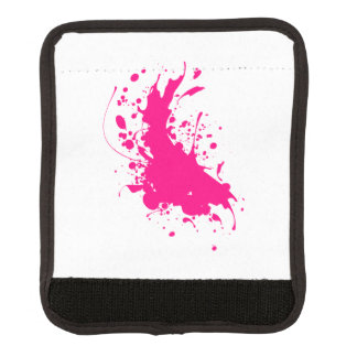 Pink Paint Splatter Luggage Handle Wrap