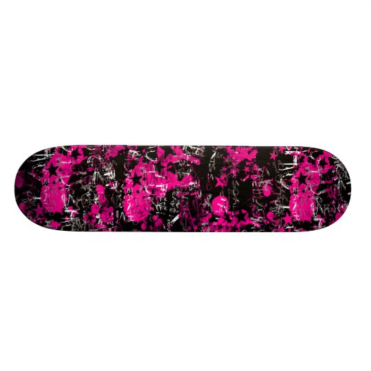 Pink Paint Splatter Skateboards