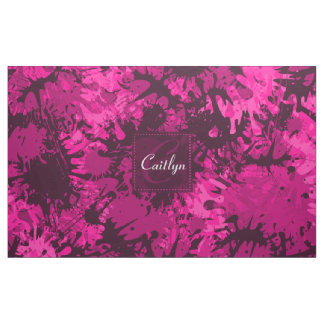 Pink Paint SplatterCreative & Fun Abstract Pink Pa Fabric