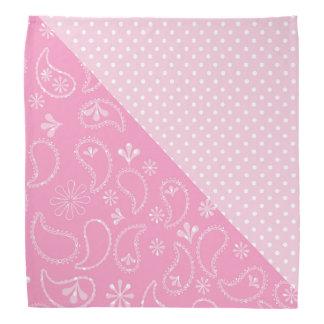 Pink Paisley and Polka Dots Bandana