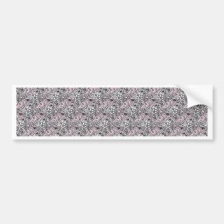 Pink paisley bumper sticker