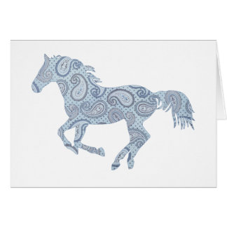 Pink Paisley Horse Note Card