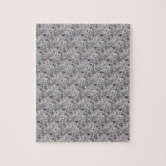 Pink paisley jigsaw puzzle