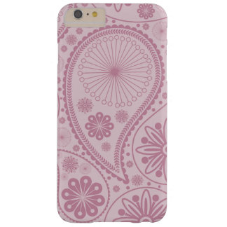 Pink paisley pattern barely there iPhone 6 plus case