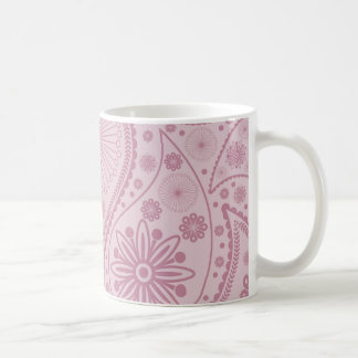 Pink paisley pattern coffee mug