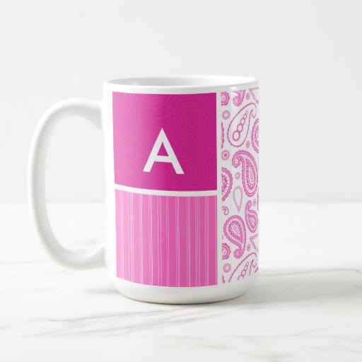 Pink Paisley Pattern Coffee Mugs
