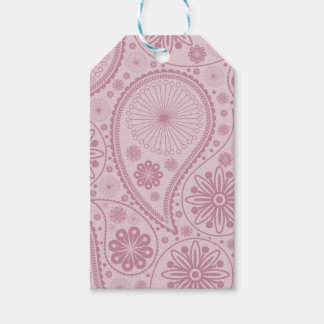 Pink paisley pattern pack of gift tags