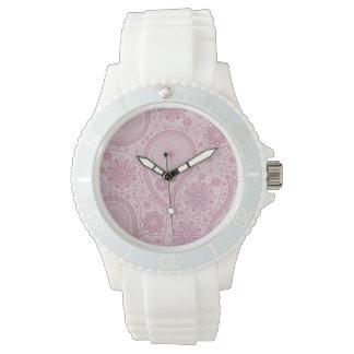 Pink paisley pattern wristwatches