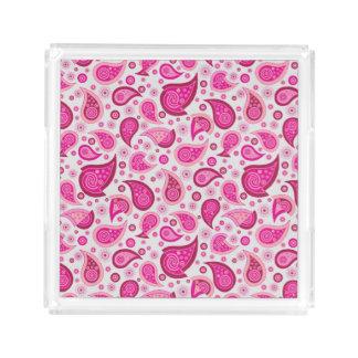 Pink Paisley perfume tray