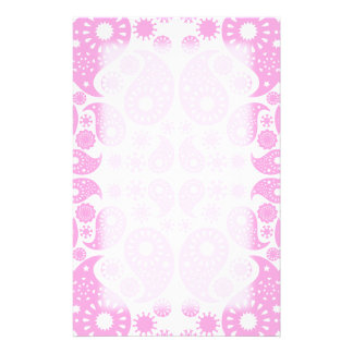 Pink Paisley Stationery Paper