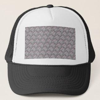 Pink paisley trucker hat