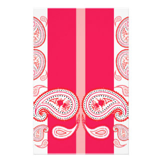 Pink paisleys stationery