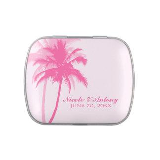 Pink Palm Trees Beach Wedding