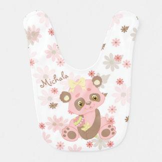 Pink Panda Bear Pastel Pattern Bib