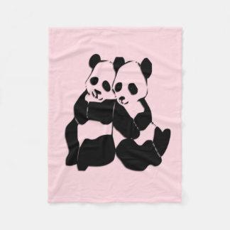 Pink Panda Bears Custom Fleece Blanket
